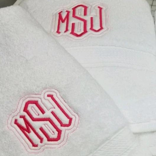 Monogrammed  Bath Towel with your initial