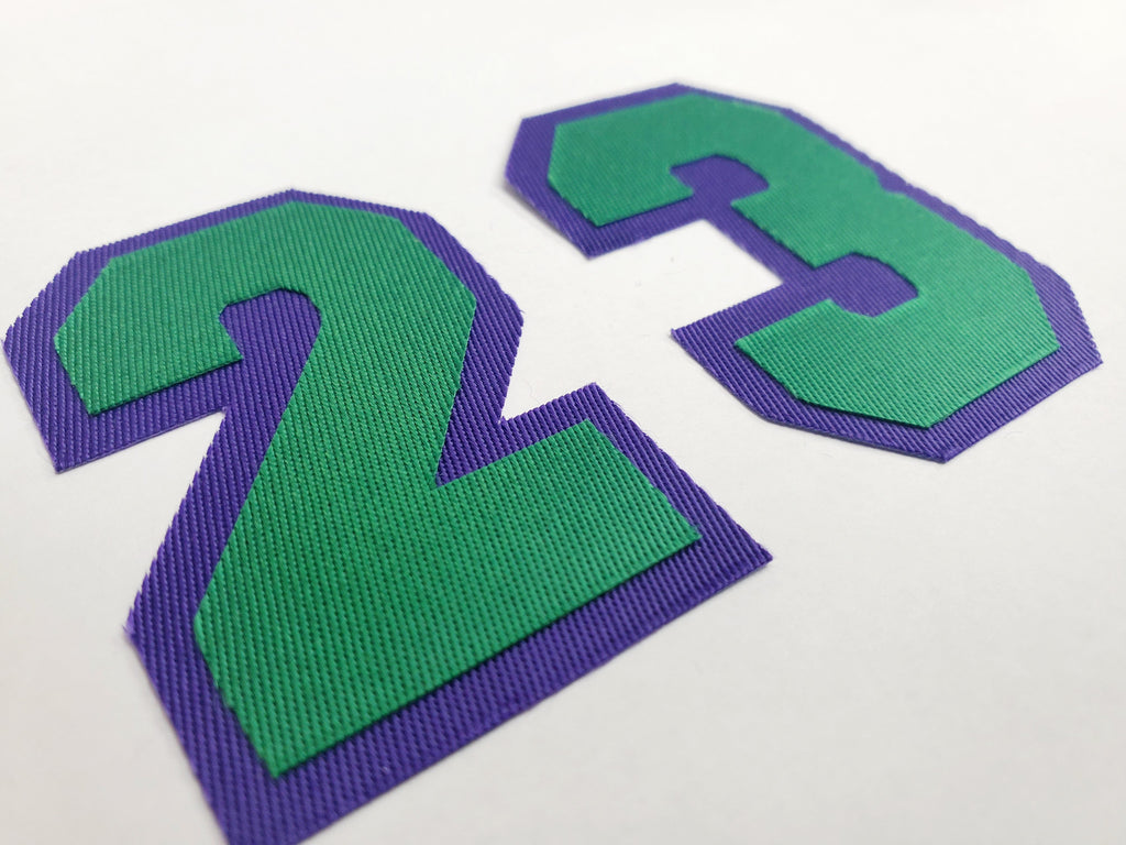 2 Color Tackle Twill Numbers