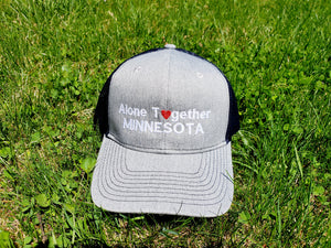 Alone Together Minnesota Embroidered Hat Snap-back Trucker Cap