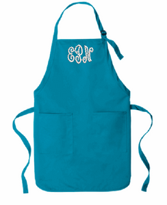 Full-Length Two-Pocket Bid Apron with 3 letter Monogram