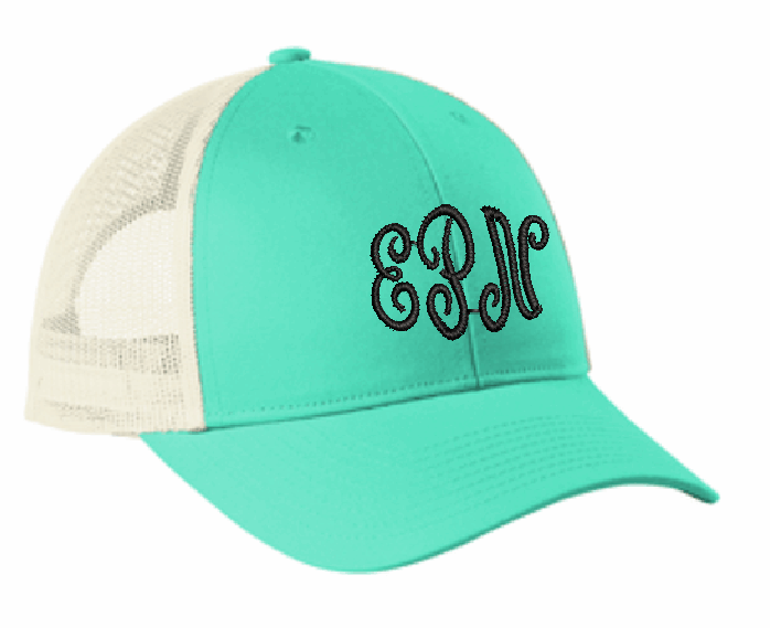 Low-Profile Snapback Trucker Cap with 3 letter Monogram