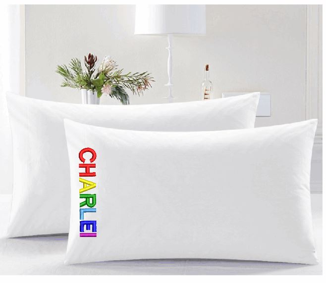Crayola Monogramed Pillow cases