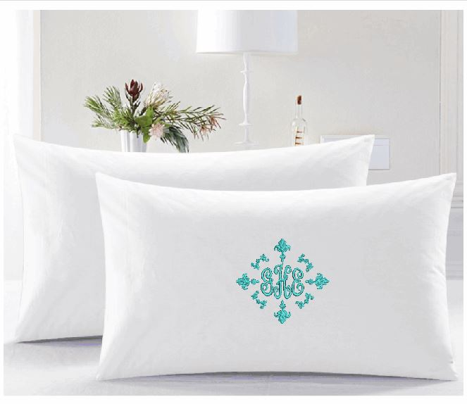 Curly Monogramed Pillow cases