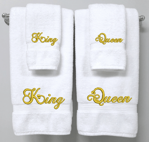 King & Queen set of Towels