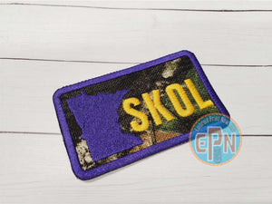 "MN camo Skol  3"" X 2"" Purple Patch"