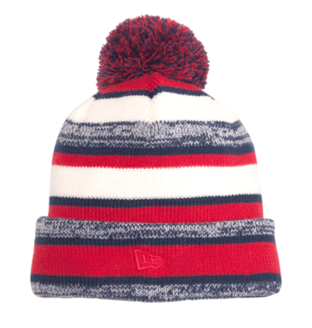 New Era Red Sideline Embroidered Beanie
