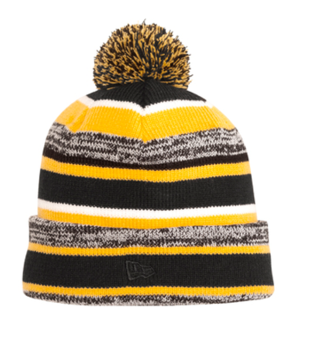 New Era Yellow Sideline Embroidered Beanie