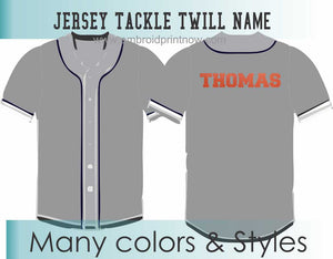 "Tackle Twill Pro 2""H X 11""W Name for Jerseys"