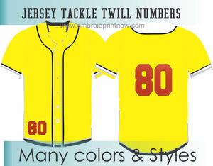 "Tackle Twill Pro 2 Colors 9""H X Proportion Numbers for Jerseys"