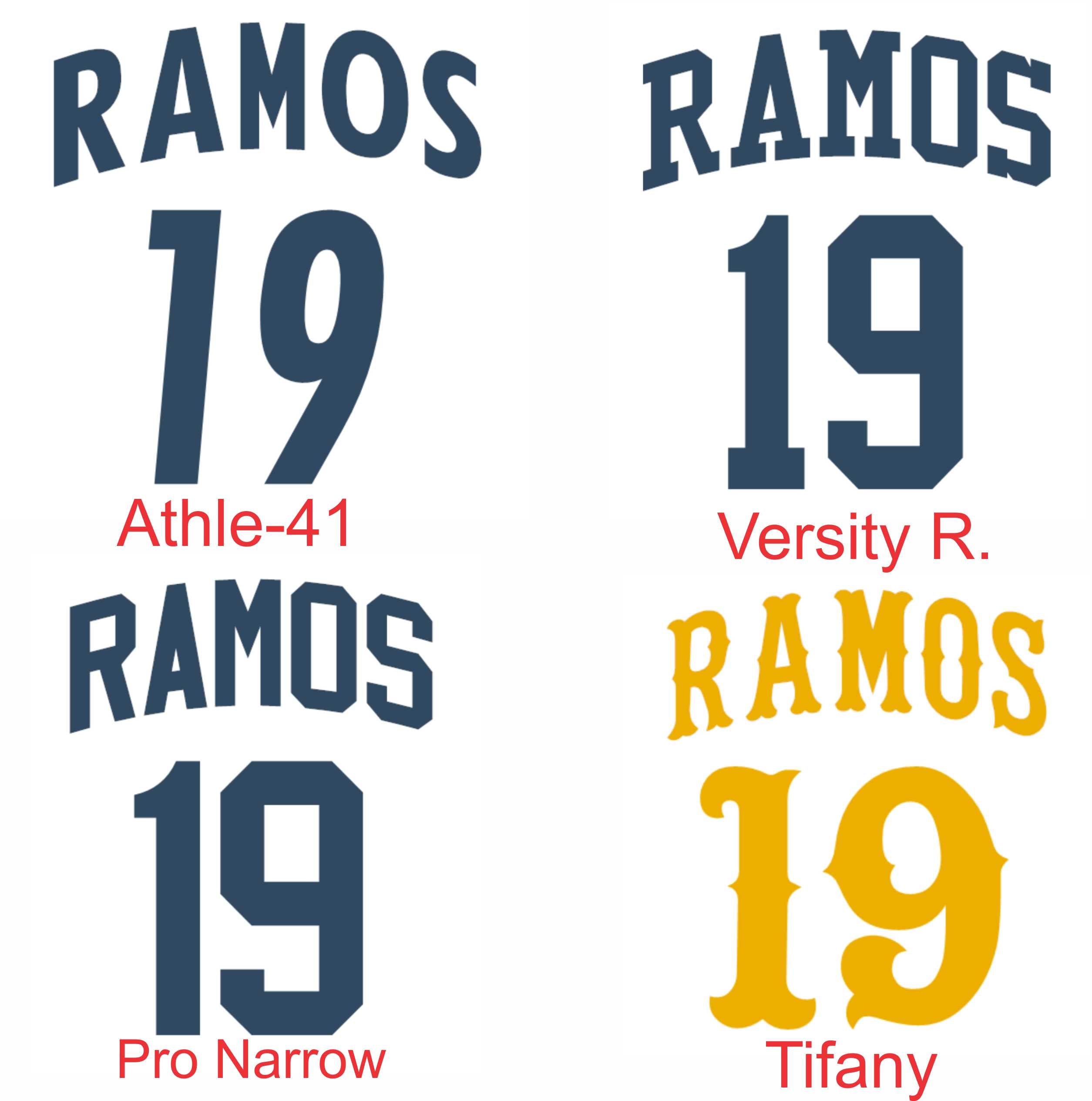 Tackle Twill 2 Pro Name + Numbers Kit for Jerseys