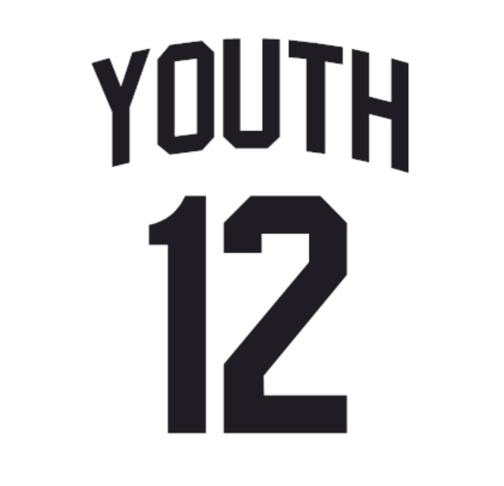 Youth Tackle Twill 2 Pro Name + Numbers Kit for Jerseys