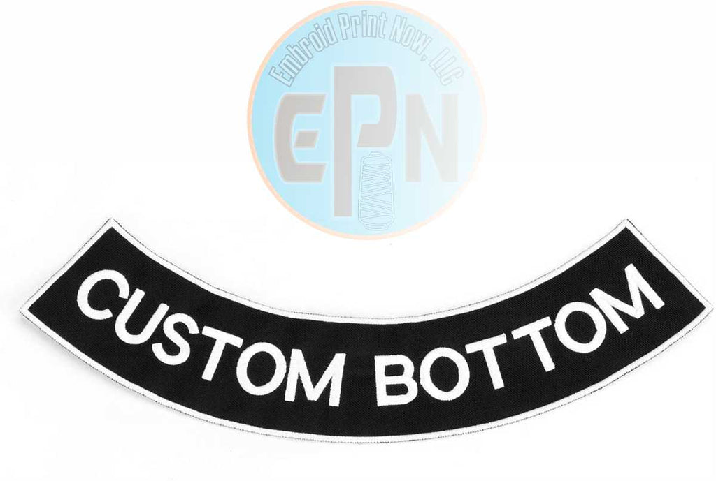 Biker Rockers Bottom Embroidered Patch