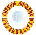 Biker Rockers set of 2 Embroidered 15 inch Patches