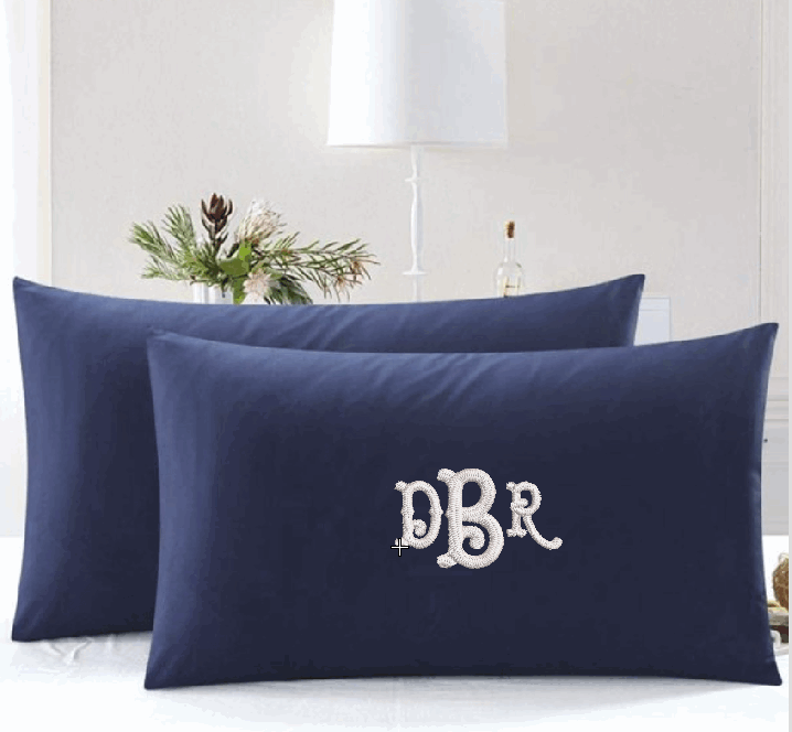 Fish Tail Monogram Pillow Cases
