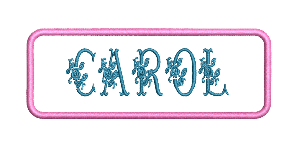 "Your Name W/ Flowers Here 4."" X 1.50"" Name  Flower Patch"