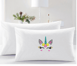Pretty Embroider Unicorn Pillow Cases