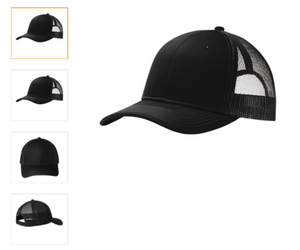 Port Authority  Black Snapback Trucker Cap