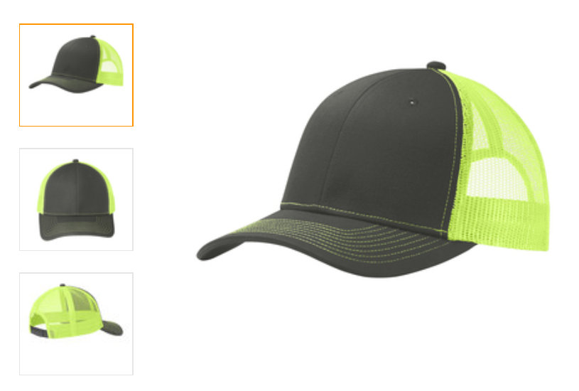 trucker hat neon yellow