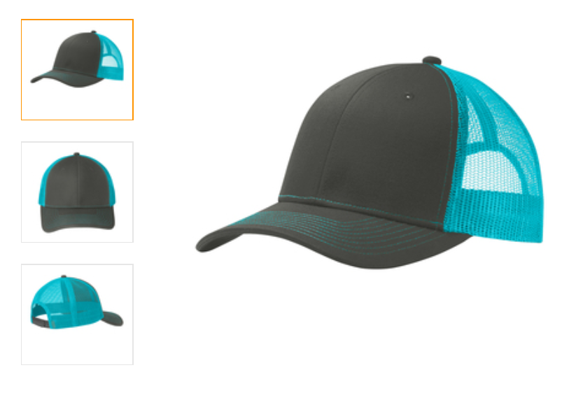 Trucker hat neon blue