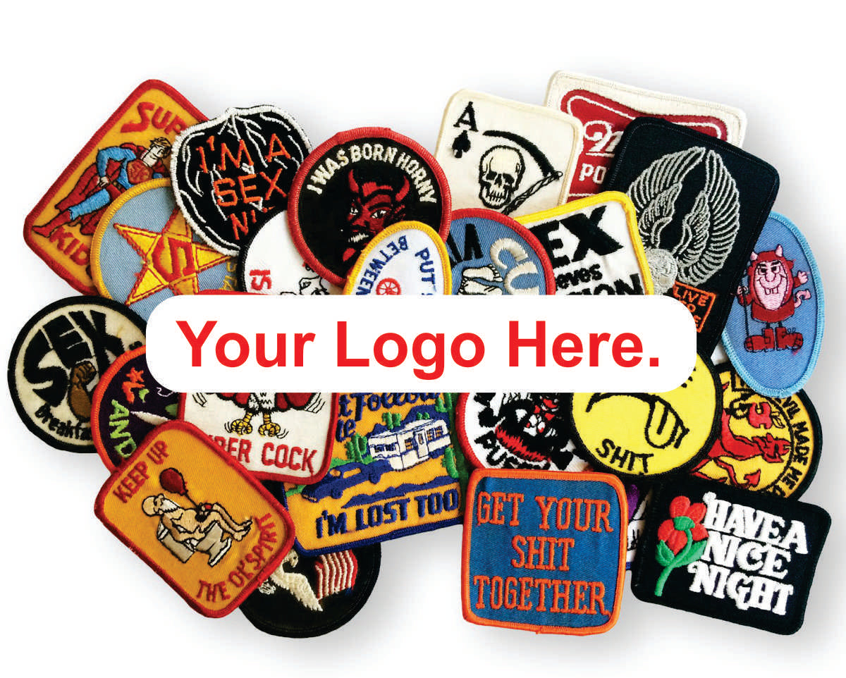 "100 Custom  2"" X 2"" Patches with your logo"