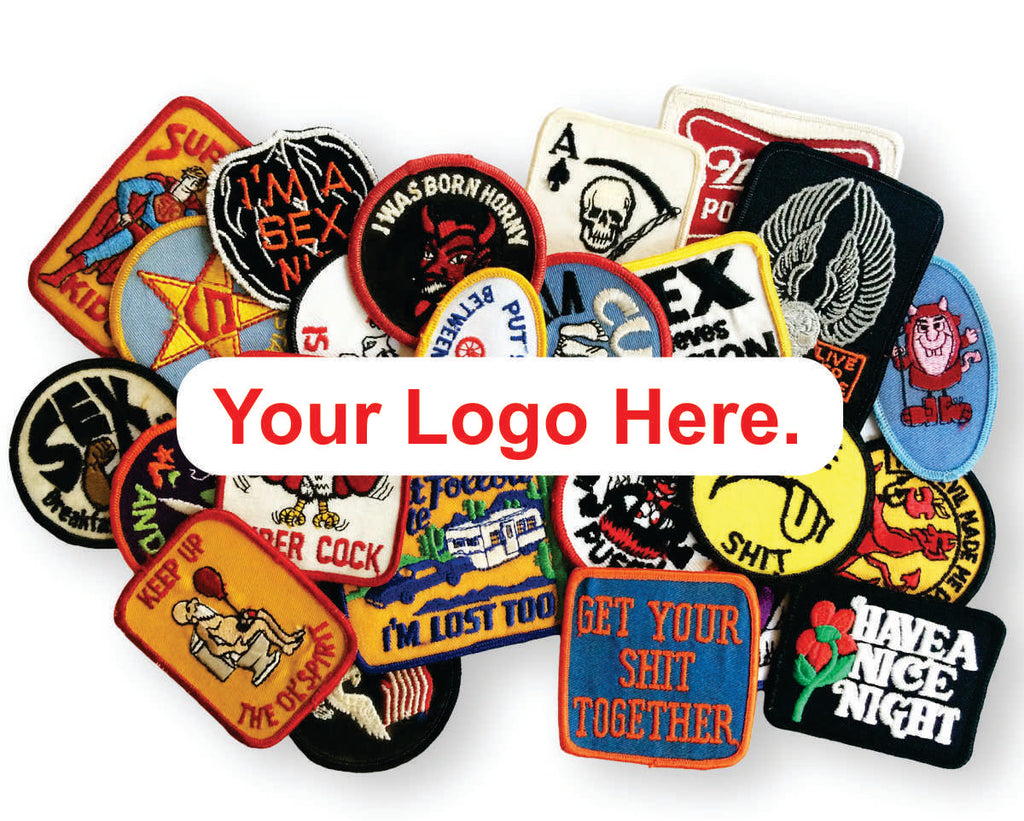 "100 Custom  3"" X 3"" Patches with your logo"