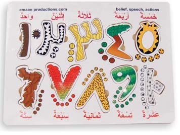 Arabic Number board - Emaan Productions