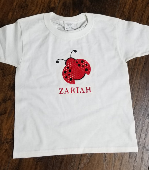 Embroidered Lady Bug Shirt