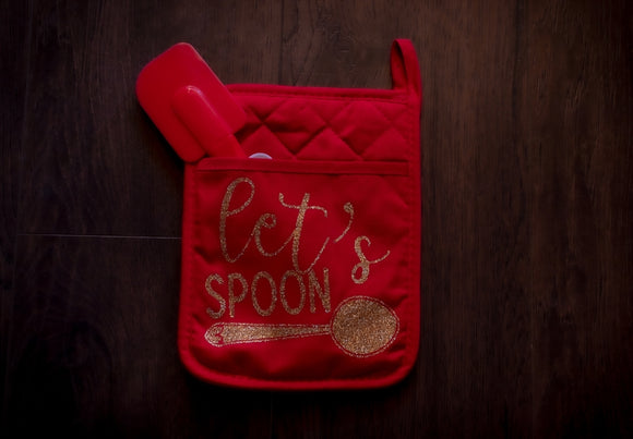 Oven Mitt - Let's Spoon