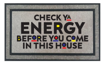 CHECK YA ENERGY DOOR MAT