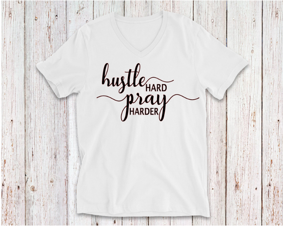 HUSTLE HARD PRAY HARDER TSHIRT