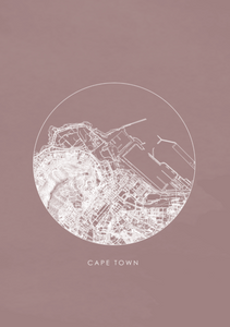 Cape Town Map / Pink