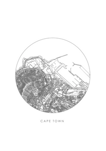 Cape Town Map / Grey