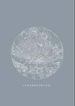 Load image into Gallery viewer, Johannesburg Map/ Blue
