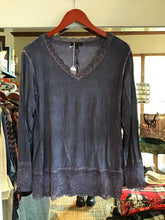 Load image into Gallery viewer, Lace Edged Long Sleeve Top