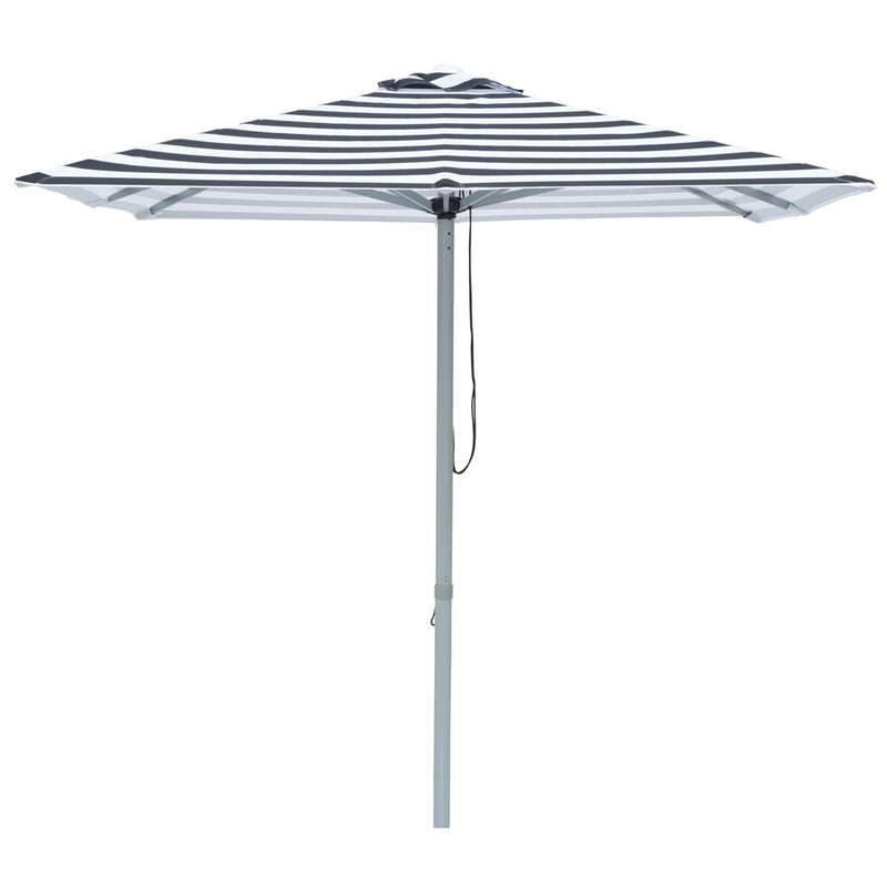 Mont Blanc - 2m square black and white stripe umbrella with cover