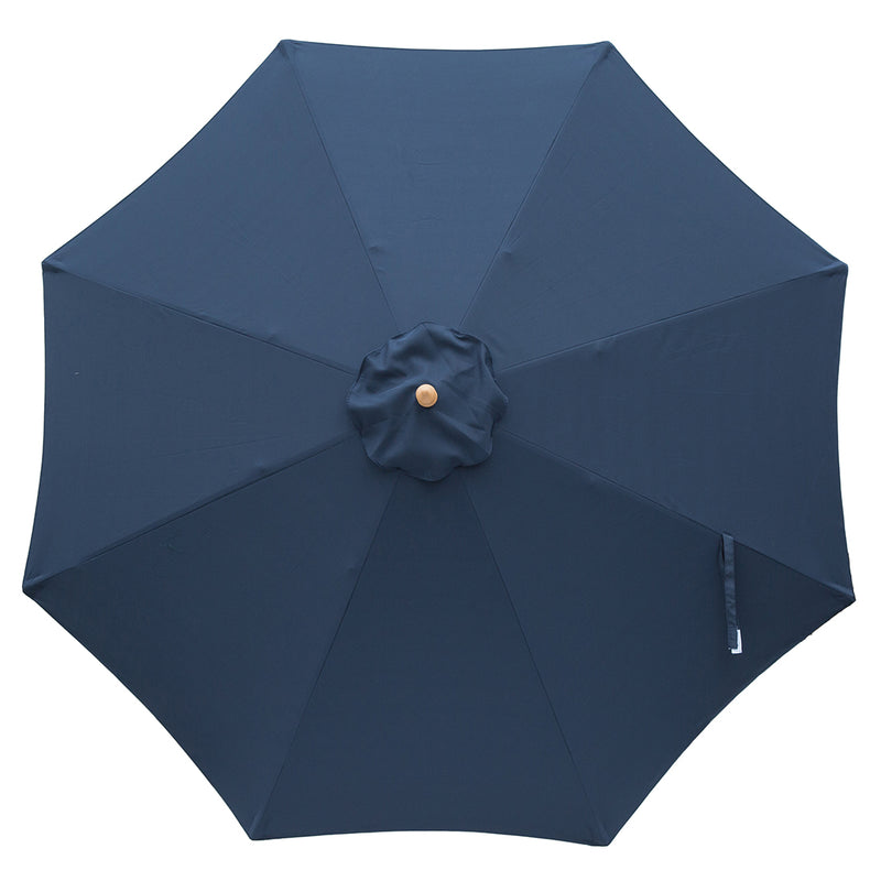 Navy 3m diameter market umbrella with cover