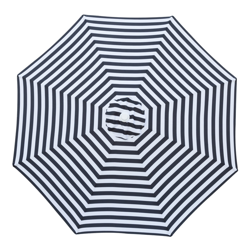 Mont Blanc - 3m diameter black and white stripe umbrella with cover