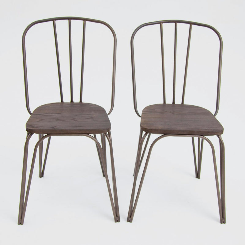 Edge Chair Dark Elm Gunmetal x2