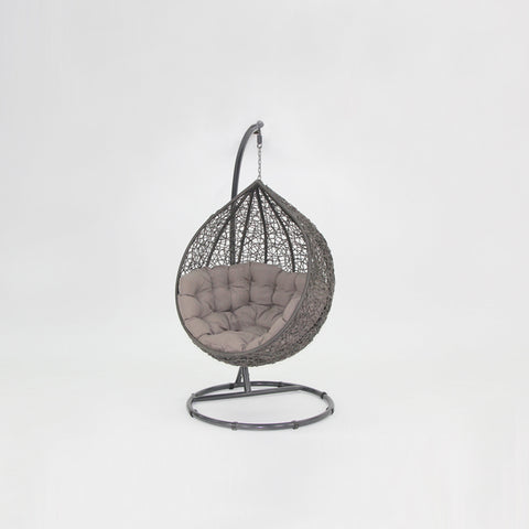 Kakadu premium pod chair grey pod with mushroom cushion