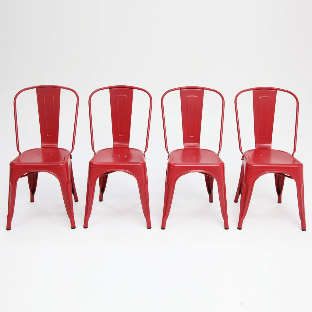 Paris tolix chair Red x4