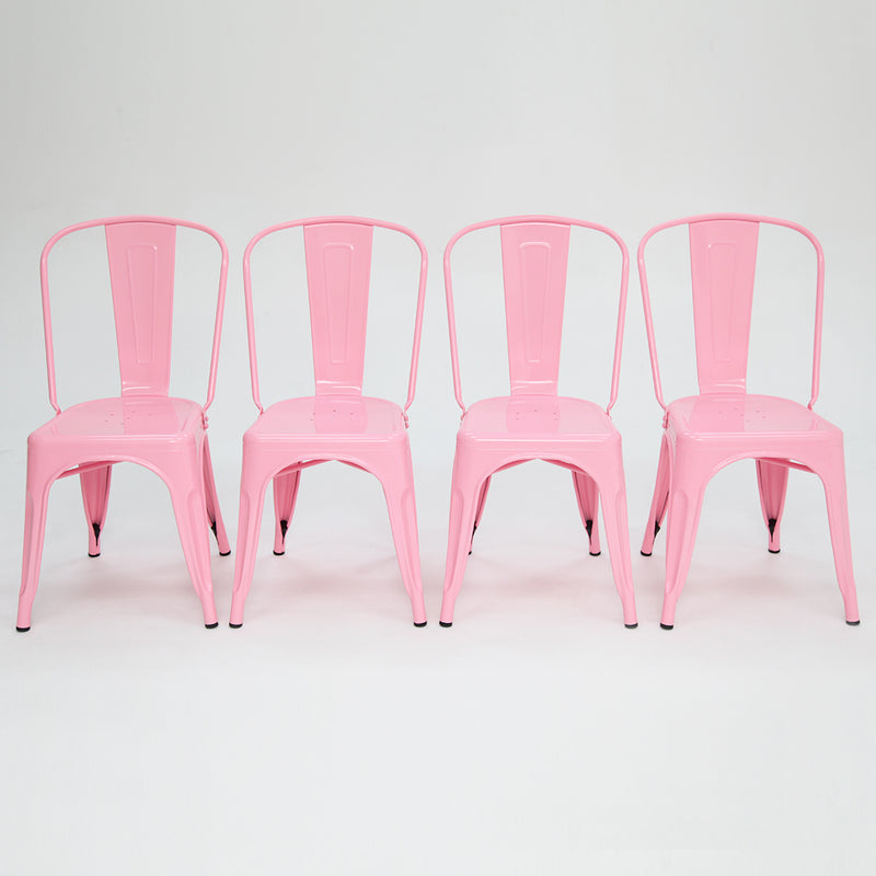 Paris Tolix Chair Pink x4