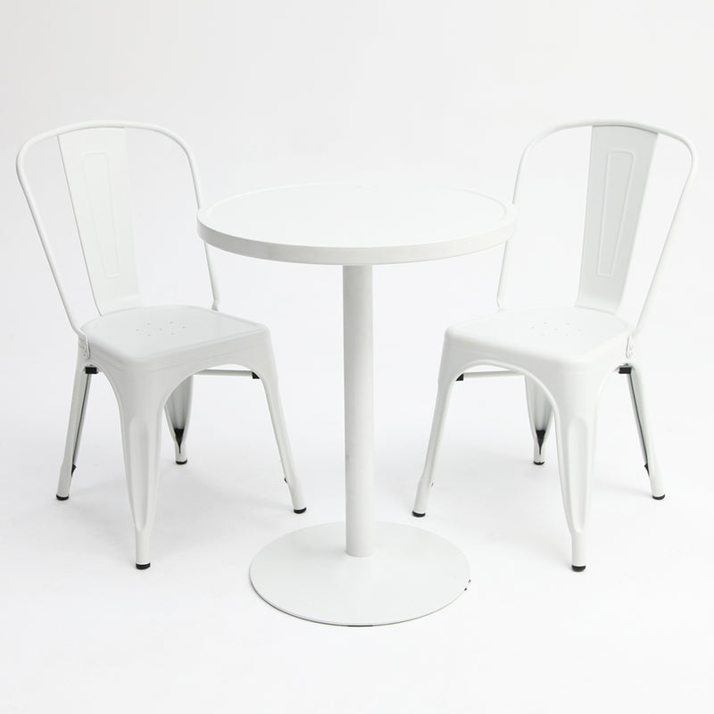 Paris 3pc White Dining Setting