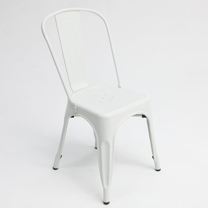 Paris Tolix Chair White x4