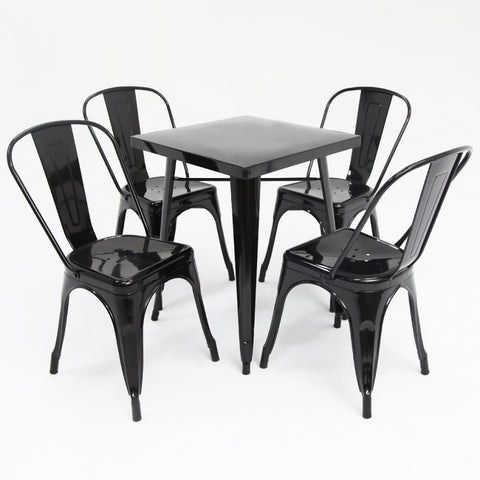 Replica Tolix 5pc Set Black Gloss