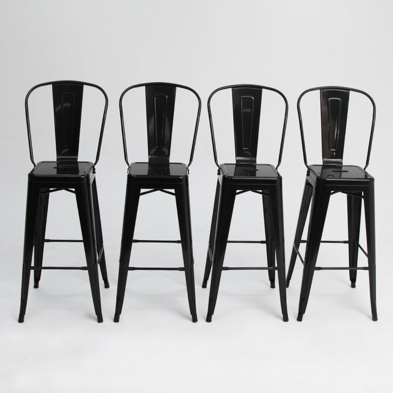 Tolix Bar Chair Black x4