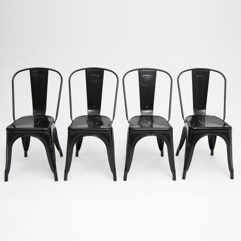 Tolix Chair Black Gloss x4
