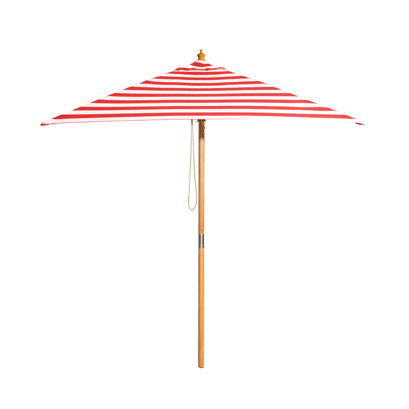 Monte Carlo - 2m square red and white stripe umbrella