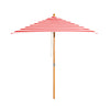 Monte Carlo - 2m diameter square red and white stripe umbrella