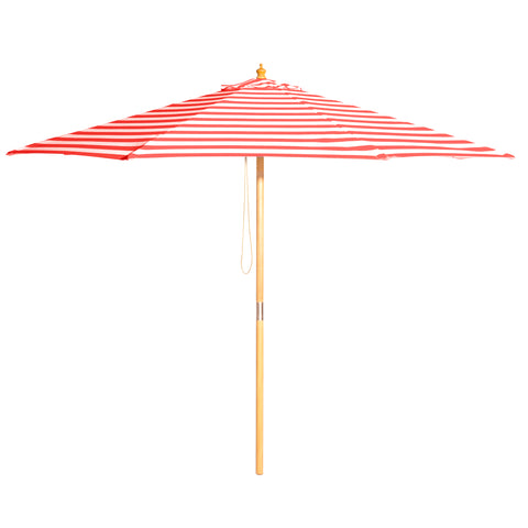 Monte Carlo - 3m diameter red and white stripe umbrella