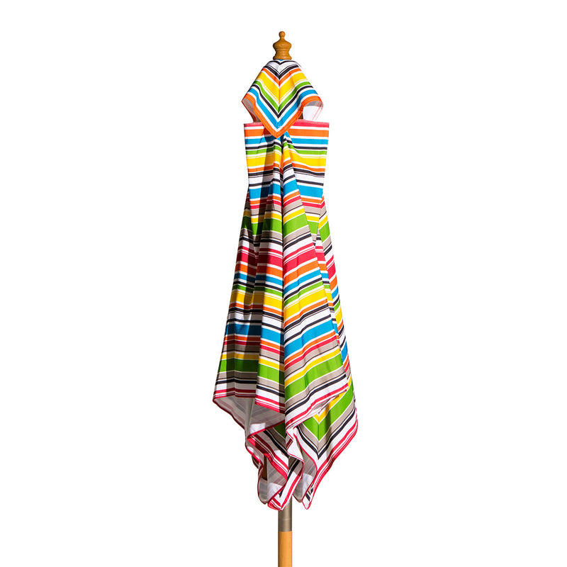 Billy Fresh Signature - 2m diameter square multicolour stripe umbrella